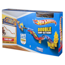 Pista Acrobacia Autos Hot Wheels P/ Pared Y Piso Flame Drop