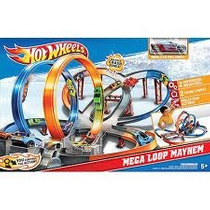 Pista Hot Wheels Mega Loop Mayhem