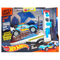 Hot Wheels Pista Ice Breaker Con Fx Luz Y Sonidos Z Devoto