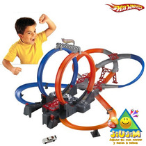 Mega Pista De Choques Motorizada Hot Wheels! Video Tv Jiujim