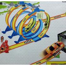 Super Pista 360 Grados 5 Vueltas Reversa 2 Autos Salto