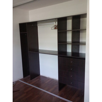 Interior Placard Vestidor Roble Moro 240cm Ancho 200 Alto
