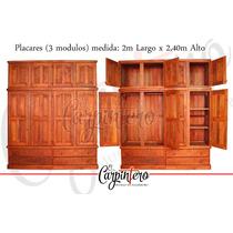 Placard Algarrobo Macizo 2m X 2,40m