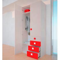 Placard Ropero 2 Puertas 4 Cajones Moderno Premium Nature