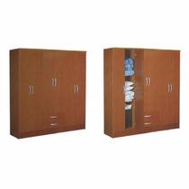 Placard Mosconi 6 Puertas Caoba