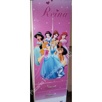 Ropero Placard Infantil Disney Mickey Minnie Princesas, Cars