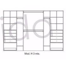 Modulo Interior De Placard 3mt Y A Med 6 Colores A Elección!