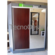 Frente Placard Integral Melamina + Espejo 150x260 Cm C/guías