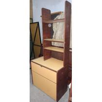 Mueble De Madera Con Formica Baulera Con Alzada 3 Estantes