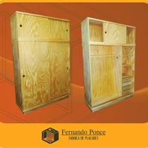 Placar De 150x225x050 Puertas Corredizas En Pino