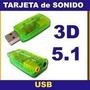 Placa De Sonido Usb Externa Audio 5.1 Surround 3d P/notebook