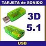 Placa De Sonido Usb Externa Audio 5.1 Surround 3d