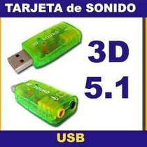 Placa De Sonido Usb Externa Audio 5.1 Surround 3d
