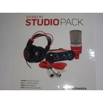 Js B1 Placa Micrófono Auriculares Kit Grabación Artemusical