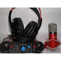 Js B3 Placa Micrófono Auriculares Kit Grabación Artemusical