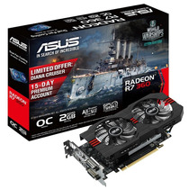 Placa Video Asus Radeon R7 360 2gb Oc Hdmi Dvi Gtia 36 Meses