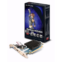 Placa De Video Sapphire Ati Radeon Hd5450 Ddr3 1gb Hdmi
