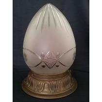Tulipa De Cristal Francés Talla Diamante Con Soporte