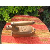 Muy Buen Antigua Plancha Carbón Tintorero Halcon N6 Cobreada