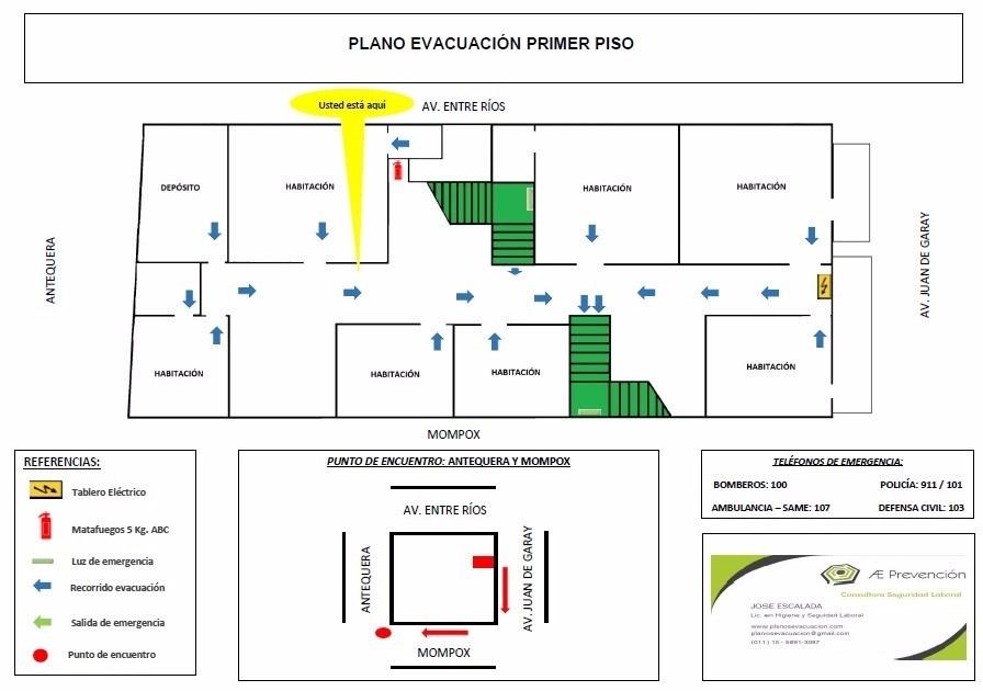 Plano De Evacuacion Plan Obligatorio Capital Federal