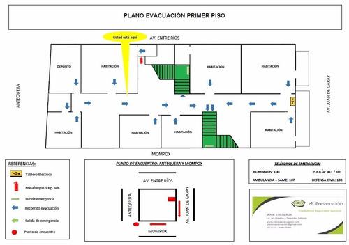 Plano De Evacuacion / Plan Obligatorio Llama Gratis 0800