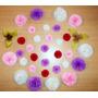 Bolsa Con 30 Flores De Papel De 10 Cm
