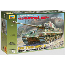 Tanque Zvezda P/armar King Tiger 1/35 Kit 3601