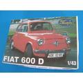 Surmodels Fiat 600 D El Querido Fitito En Escala 1-43