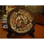 1 Plato Decoracion Porcelana Roja Y Oro Saji Japan (bar1)