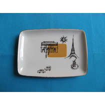 Plato Decorativo Rectangular Porcelana Tsuji