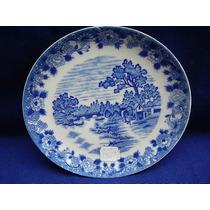 1367 B-hermoso Platito De Porcelana Tsuji Old Blue