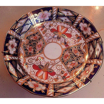 Antiguo Plato Porcelana Royal Crown Derby Diseño Imari