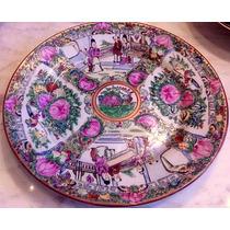 Antiguo Plato Porcelana Canton Chino