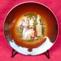 Hermoso Plato Decorativo Fina Porcelana Checoslovaca Epiag