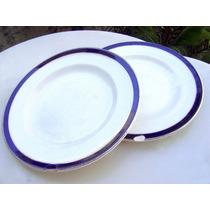 2 Platos Porcelana Inglesa A $90 - No Envío