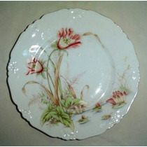 Finisimo Plato Playo De Porcelana Austriaca - Semper Sur Sum