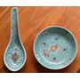 Antiguo Juego De Plato Y Cuchara De Porcelana China