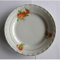 Plato Decorativo Porcelana Boulogne Diseño De Flores