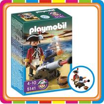 Playmobil 5141 - Soldado Pirata Con Cañon - Mundo Manias
