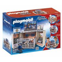 Playmobil Cofre Maletin Cuartel De Policias Carcel 5421