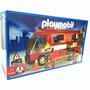 Playmobil Set Camion De Bomberos 3252 3 Muñecos Casa Valente