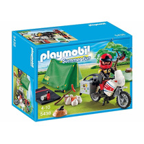 Playmobil 5438 Camping Moto Tienda De Campaña - Mundo Manias
