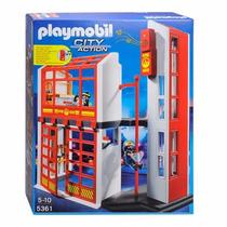 Playmobil 5361 City Action Cuartel De Bomberos Con Sonido