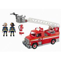 Playmobil 5980 Camion De Bomberos De Rescate Con Escalera