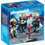 Playmobil 5366 Bomberos Con Equipo De Extincion Palermo Envi