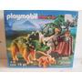 Playmobil Argentina Dinosaurio Triceratops Con Cria Unico