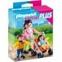 Playmobil Mini Mama Con Nino Y Coche Zap 4782