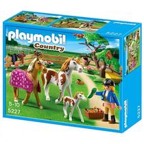 Playmobil 5227 Cuidador Con Caballos