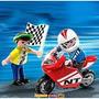 Playmobil Niño Con Moto De Carrera 4780 Envios Palermo