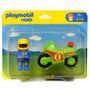 Playmobil 1.2.3 Moto De Carreras 6719 Zona Devoto